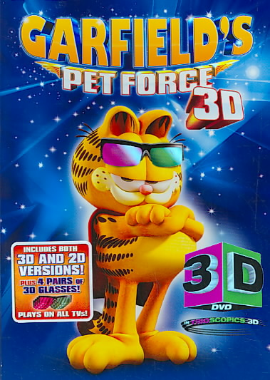 GARFIELD PET FORCE 3D BY GARFIELD & FRIENDS (DVD)